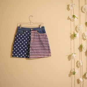 American Apparel Flag Denim Skirt